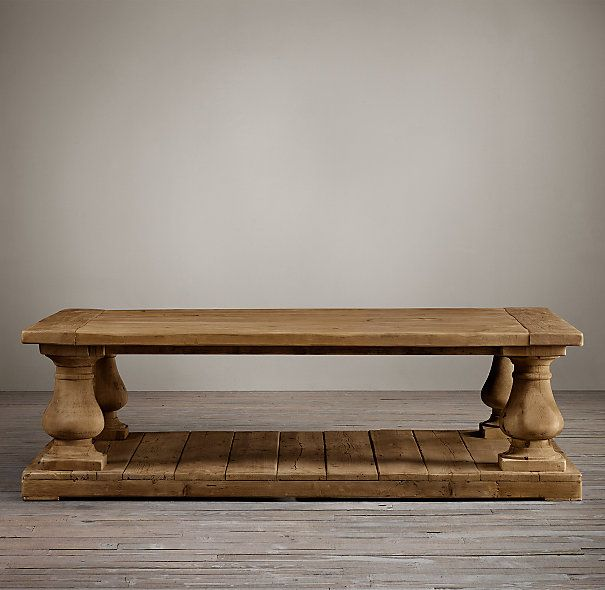 Restoration Hardware Balustrade Salvaged Wood Coffee Tables