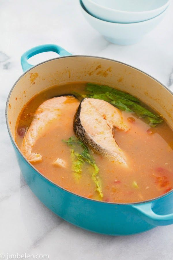 Sinigang na Salmon sa Miso | Food and Drinks | Pinterest