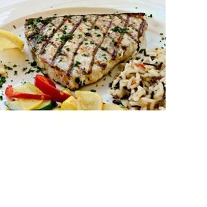 Grilled Herb-Crusted Swordfish with Lemon Butter | Recipe