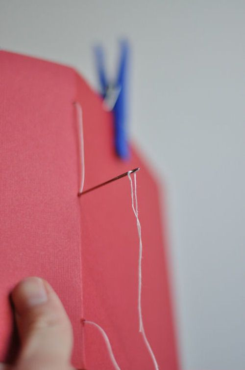 How to sew a blank book.