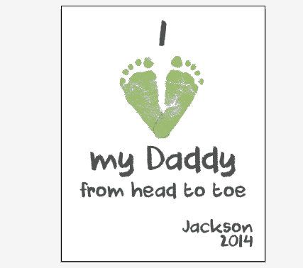 father's day footprints poem