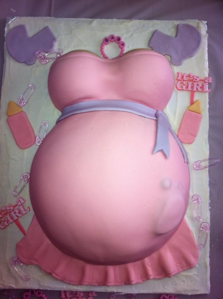 Cathy's baby shower cake