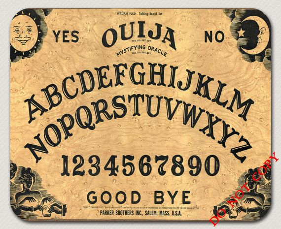 Ouija Board Vintage Game Cool Retro Mousepad Made Order Great For
