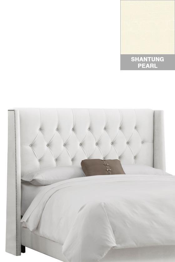Diamond Tufted Wingback Headboard - Headboards - Bedroom Furniture  # ...