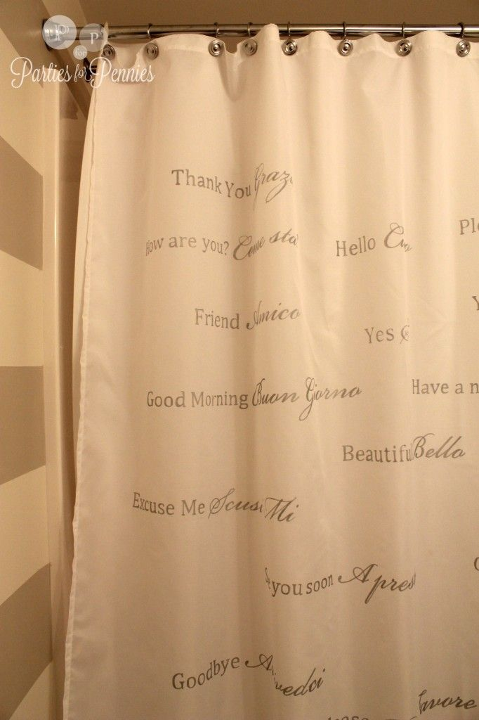 Arts And Crafts Fabrics Curtains Calligraphy Shower Curtain