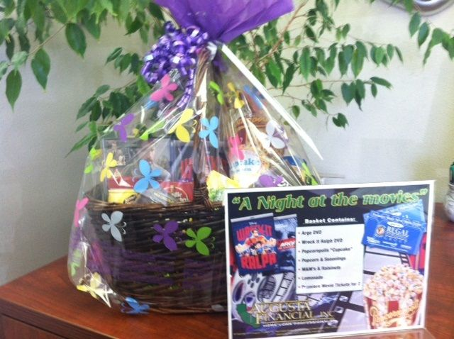 gift basket for charity | Augusta Financial at work | Pinterest