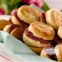Sour Cream Chive Biscuits with Country Ham from Martha White®