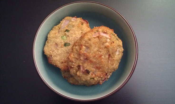 Garlic Cheese Quinoa Patties (Baked) - cooking on skillet was more dry ...