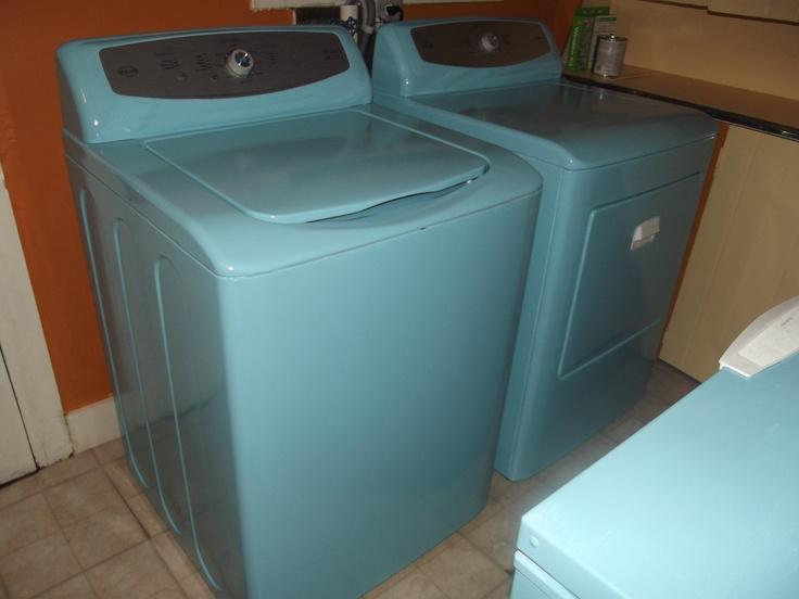 vintage blue washer and dryer laundry pinterest. Black Bedroom Furniture Sets. Home Design Ideas