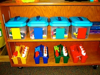 Neat Way to Organize Shared Supplies