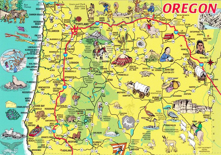 Oregon Tourist Attractions Map Related Keywords Oregon Tourist – Tourist Attractions Map In Portland Oregon