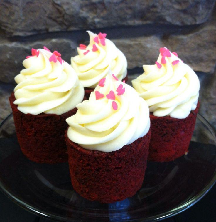 Red Velvet w/ heart sprinkles | Ye Olde Cupcakes | Pinterest