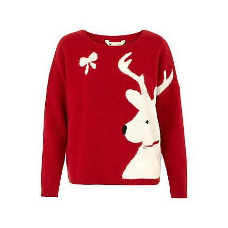 Yumi Reindeer christmas jumper- at Debenhams.com