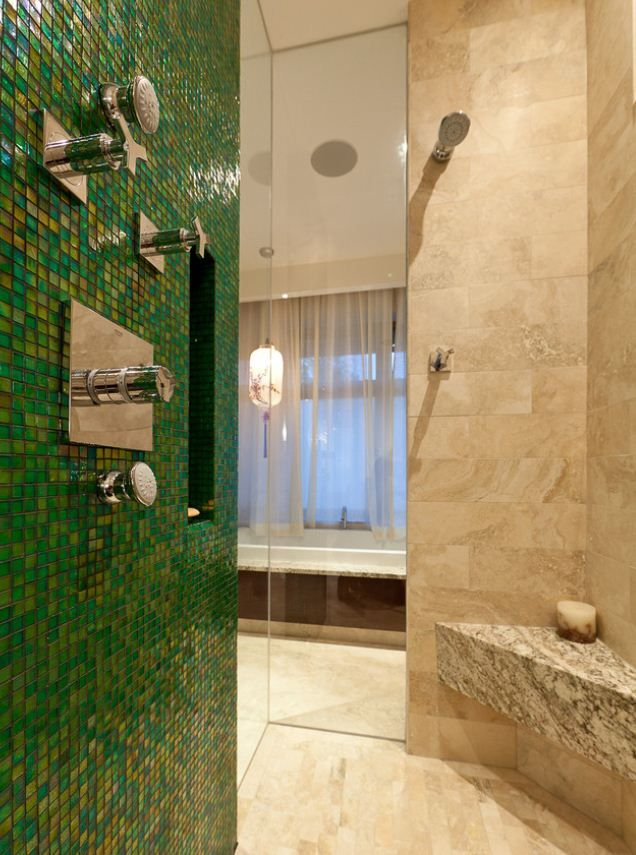 Emerald green color of the year 2013 emerald bathroom for Emerald green bathroom accessories