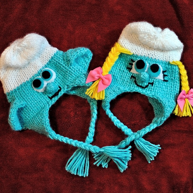 Newborn Lovable Character Earflap Hat pattern by Wendy ...
