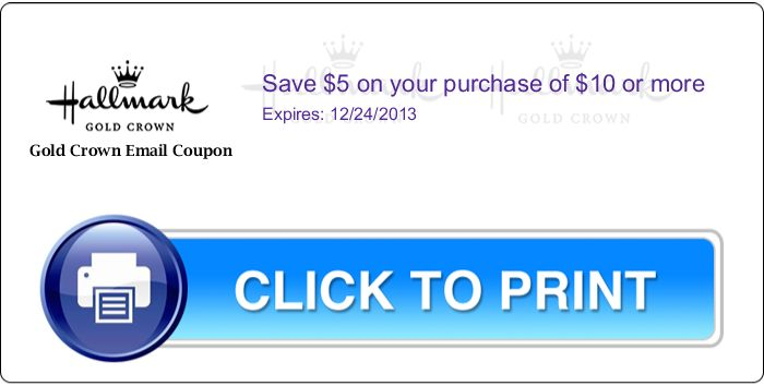 Hallmark discount coupons