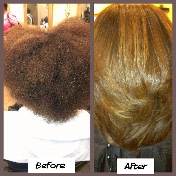 Natural Hair Flat Ironed Pinterest