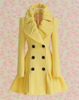 kobe bryant beats by dre Yellow skirted pea coat   Closet