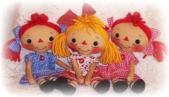 Rag Doll Pattern Ткань Кукла шаблон PDF Pattern