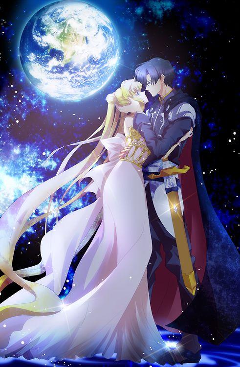 Princess Serenity and Prince Endymion | Sailor moon couples drawings ...