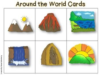 http://www.teacherspayteachers.com/Product/Landforms-Around-the-World-Card-Game-583981