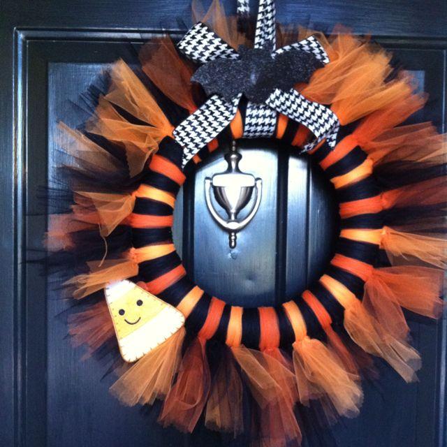 easy halloween wreath crafts pinterest