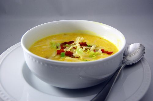 Cheddar Corn Chowder | Food: Soups | Pinterest
