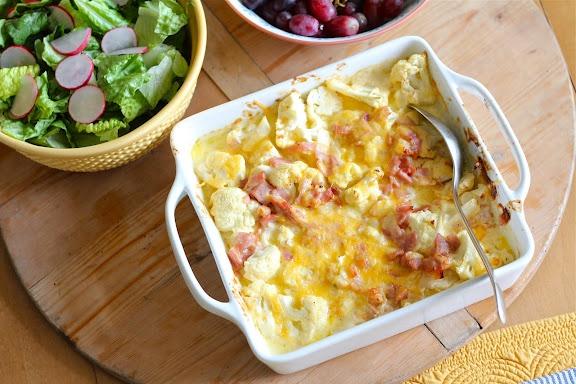 Talkin' Chow Playin' House: Cauliflower and Ham Gratin