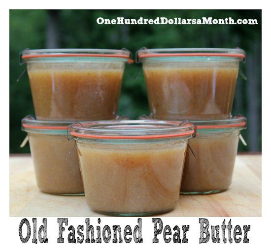 Pear Butter Recipe – Canning 101 will give it a whirl perhaps but ...
