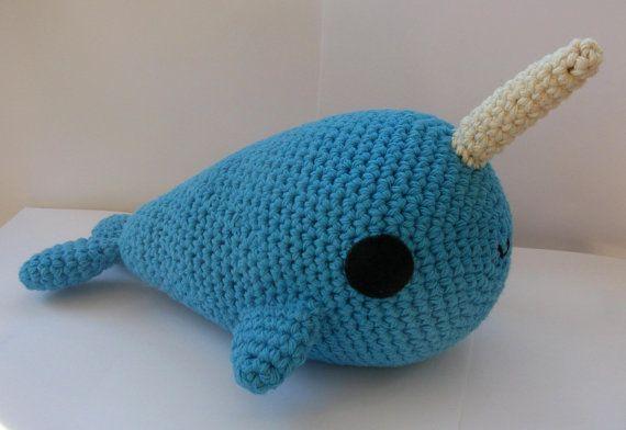 Crochet Amigurumi Narwhal : Big Amigurumi Narwhal crochet pattern