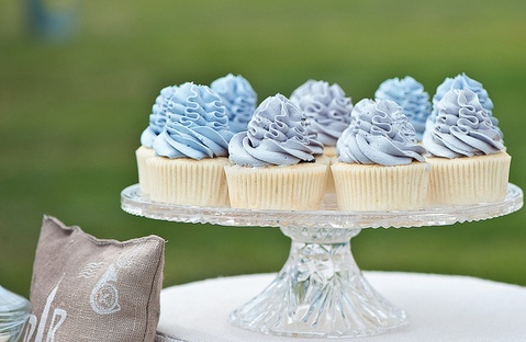 Blue Lavender colored cupcakes.   Cupcakes (and Cakes too)!   Pintere ...