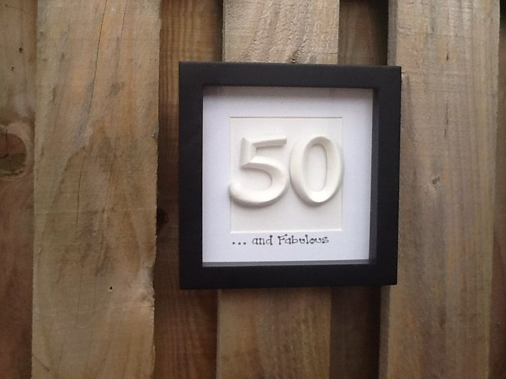 Personalised 50th Birthday. Box frame | Ivy Cottage Designs | Pintere ...