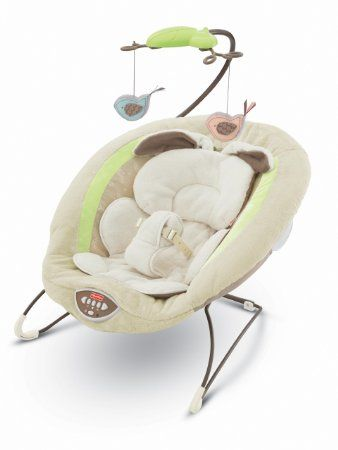 Amazon.com: Fisher-Price Deluxe Bouncer, My Little Snugabunny: Baby