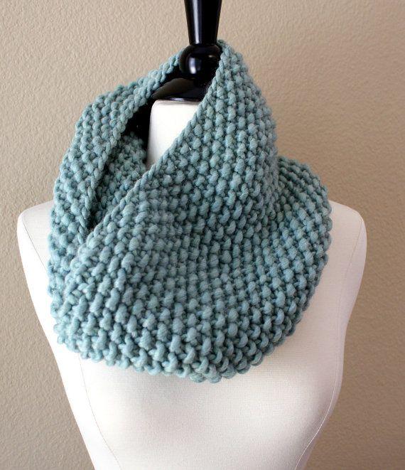 Seed stitch cowl Knitting Pinterest