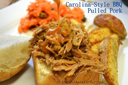 MrsMamaHen.com: Slow-Cooked Carolina BBQ Pulled Pork