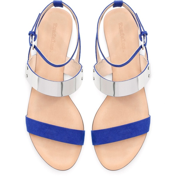 Love my new sandals:) Zara Flat Metal Sandal. Bought at Zara.com