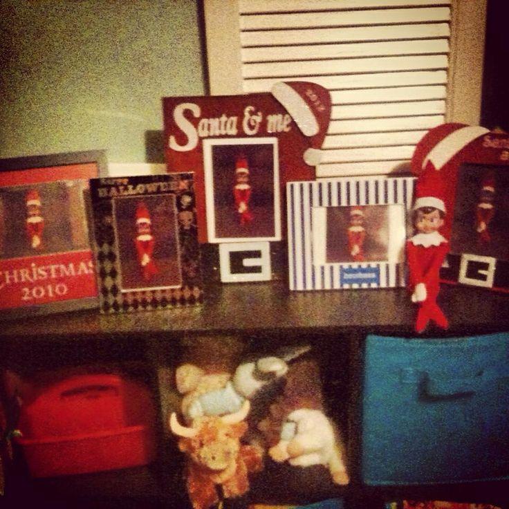 Elf on the shelf ideas- elf in the frame | Elvis the Elf ideas | Pint ...