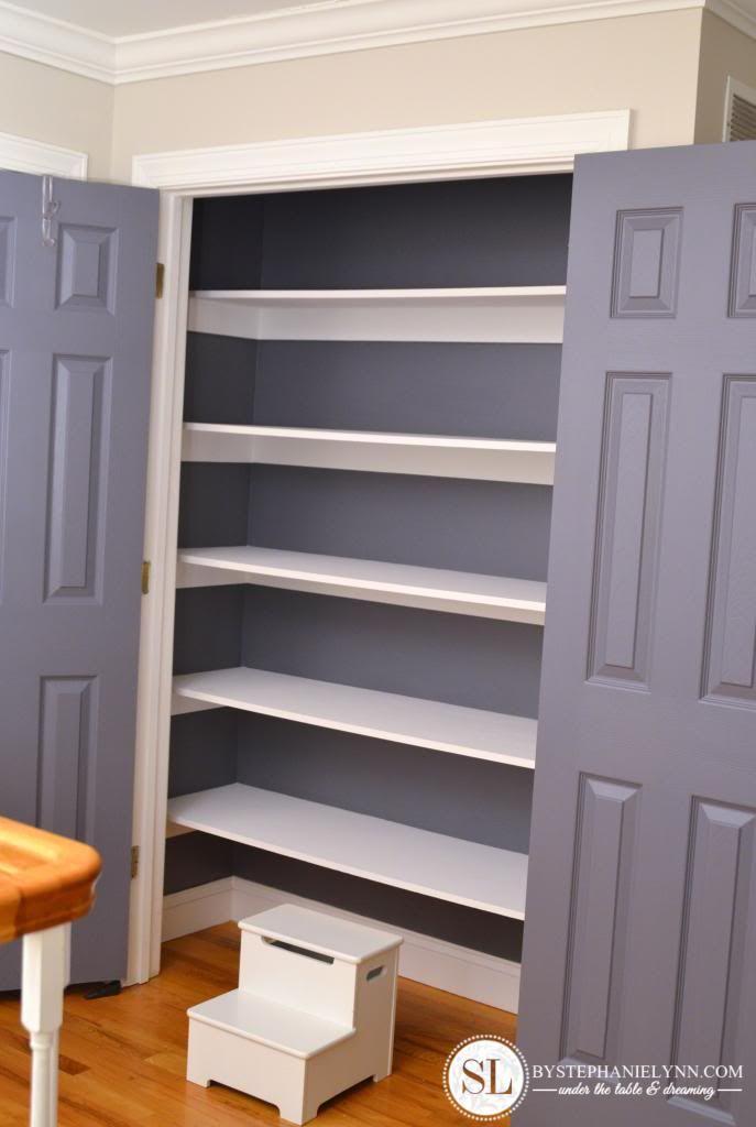 Linen closet organization for What color to paint closet
