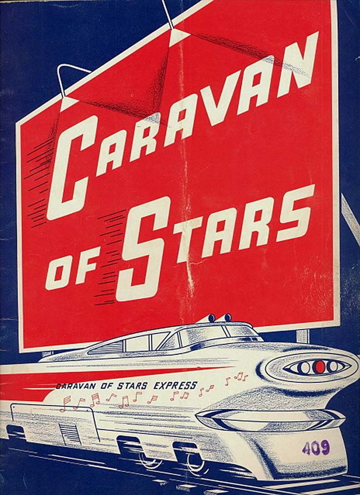 "1963 Dick Clark ""Caravan of Stars"" program cover — tour headlined by Johnny Tillotson, The Supremes, The Crystals, Dee Dee Sharp, The Hondells, Lou Christie, & more."
