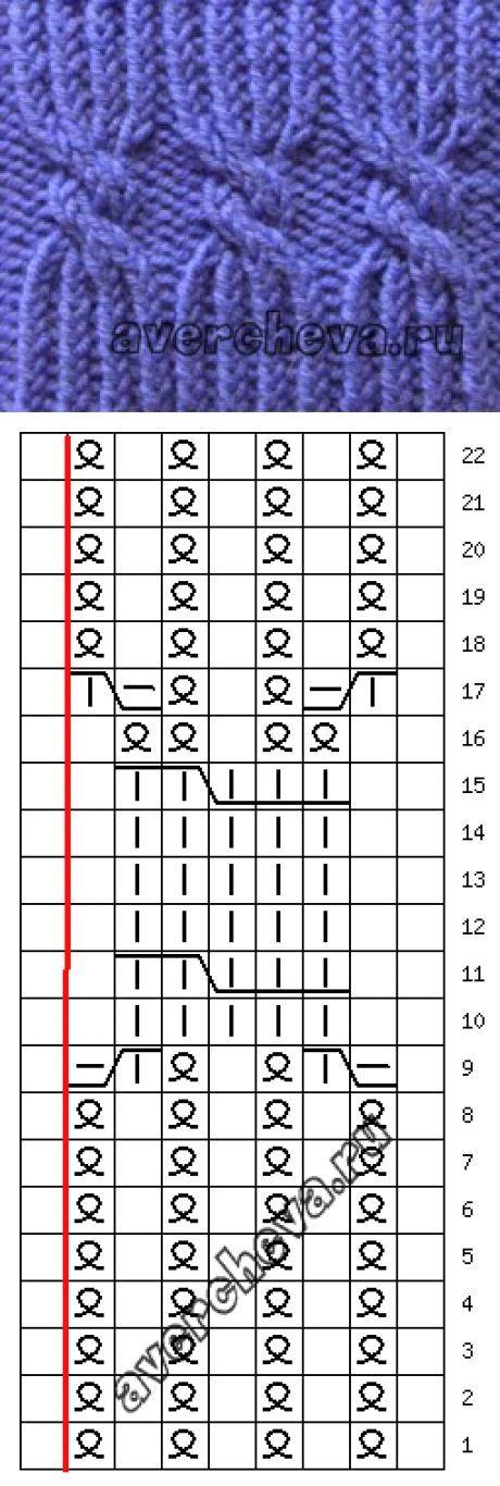 Японская резинка спицами схема вязания 27