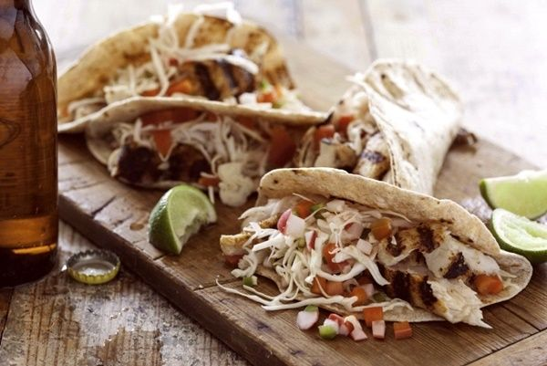 Grilled Fish Tacos with Easy Homemade Pickled Vegetables (uses paiche ...