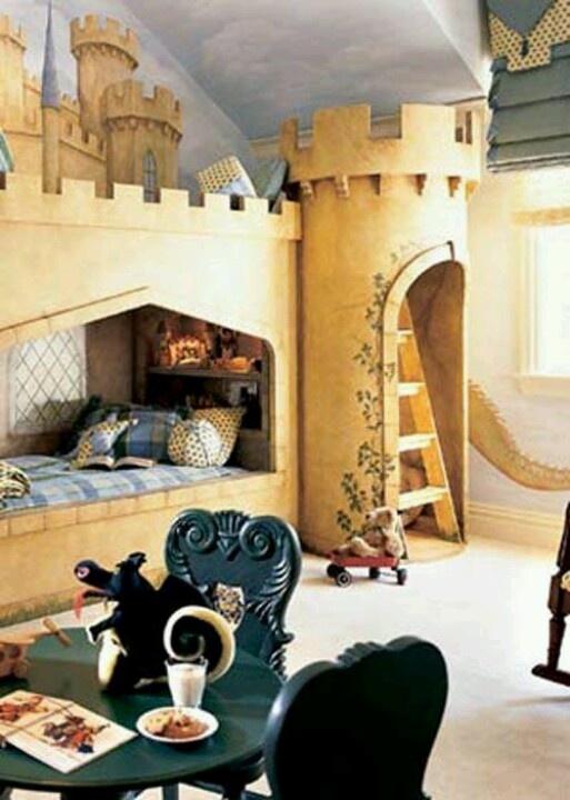 Castle bedroom for the little one girls room Pinterest