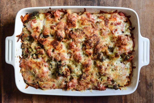 Honey Roasted Vegetable + Smoked Gouda Baked Penne | Recipe