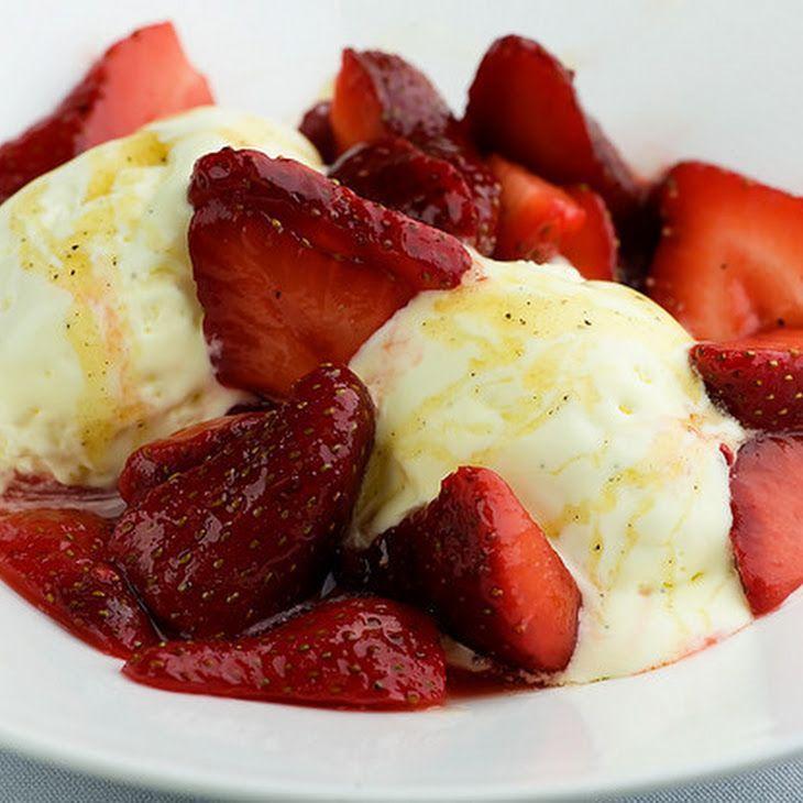 Mascarpone Semifreddo with Strawberries and Black Pepper Honey Recipe