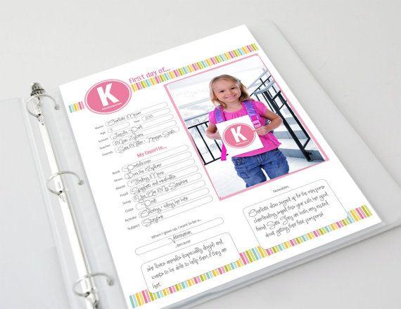 First Day of School Memories Scrapbook Pages - Digital Download, $18 ...