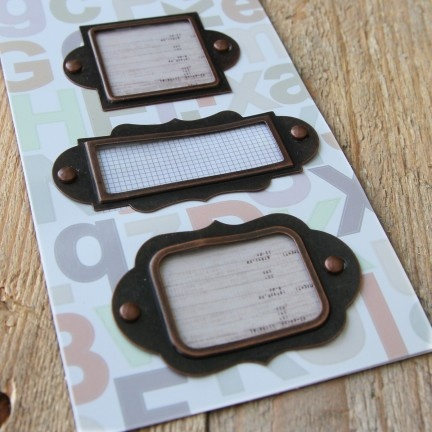 Placas metalicas para carteras