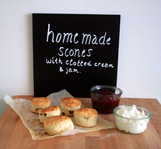 ... made scones with clotted cream & home made jam | Yellow lemon tree
