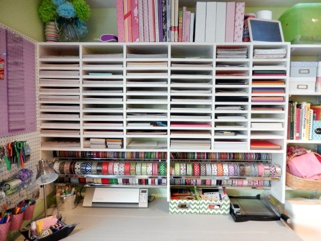 Craft room paper storage craft room ideas pinterest for Craft paper storage ideas