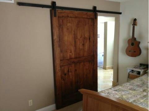 hanging reclaimed barn door house ideas pinterest