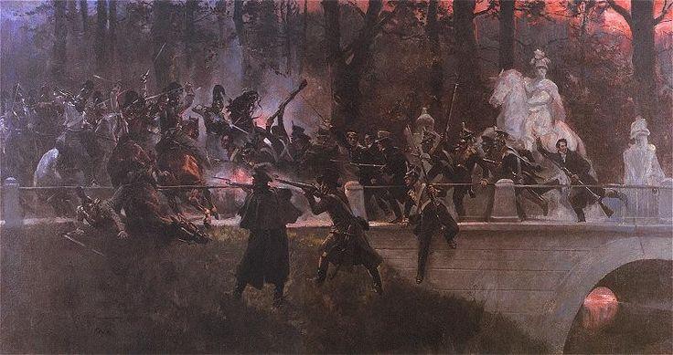 Wojciech Kossak: Noc listopadowa. 1898